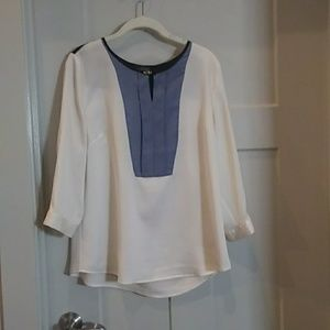 Blue and white blouse from The Limited. Size L.